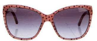 Dolce & Gabbana Star Printed Tinted Sunglasses