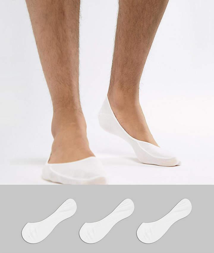 – Weiße Füßlinge im 3er-Pack