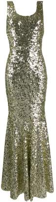 Dolce & Gabbana sequin embroidered long gown