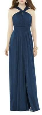 Alfred Sung Full Length Chiffon Knit Floor-Length Dress