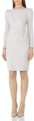 REISS Nessa Puff-Sleeve Sheath Dress $265 thestylecure.com