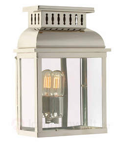 Außenwandlampe Westminster in Nickel poliert