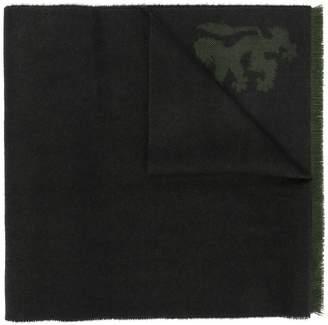 Pringle fringed-hem knitted scarf