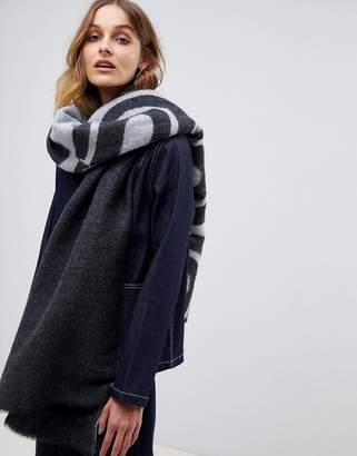 Asos DESIGN 500 logo long woven scarf