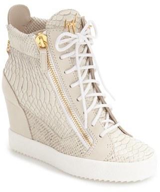 Women's Giuseppe Zanotti Ofelia Wedge Sneaker $895 thestylecure.com