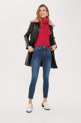 Topshop Petite Mid Blue Sidney Jeans