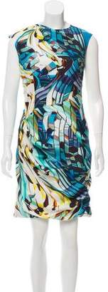 Mary Katrantzou Silk Digital Printed Dress
