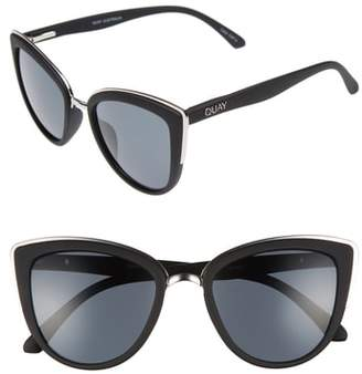 Quay 'My Girl' 50mm Cat Eye Sunglasses