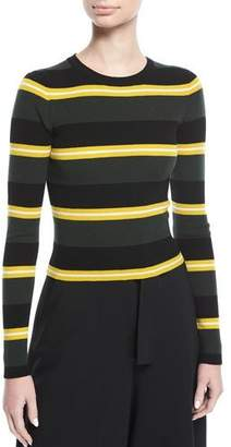 A.L.C. Shea Crewneck Striped Knit Sweater
