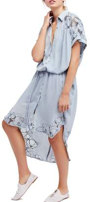 Free People Cut It Out Midi Shirtdress