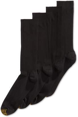 Gold Toe Men Socks, Adc Metropolitan 3 Pairs Crew Dress Socks + 1 Pair