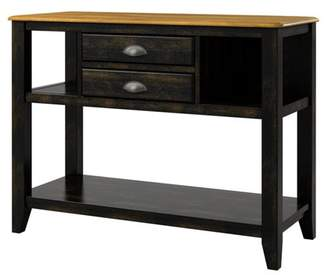 Weston Home Farmhouse Kitchen Buffet Server Cabinet, Multiple Finishes
