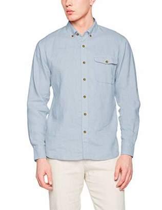 Isle Bay Linens Men's 100% Linen Long Sleeve Button-Down Collar Casual Woven Shirt Slim Fit