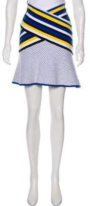 Prabal Gurung Knee-Length Flounce Skirt Blue Knee-Length Flounce Skirt