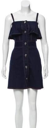 See by Chloe Ruffled Denim Mini Dress