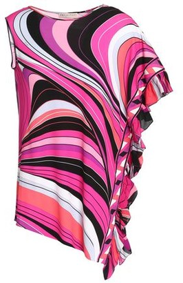 Emilio Pucci Ruffled Printed Stretch-Jersey Top