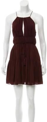 Cinq à Sept Tiered Silk Dress