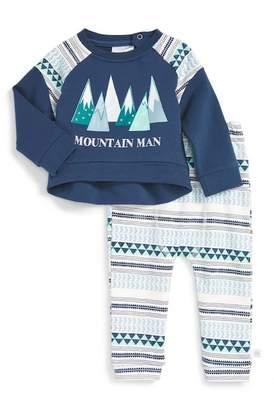 Rosie Pope Mountain Man Sweatshirt & Pants Set (Baby Boys)