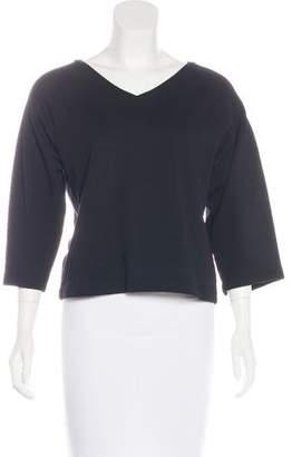 Dries Van Noten Cropped V-Neck Sweatshirt