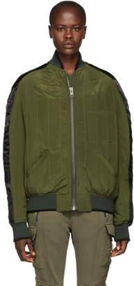 Haider Ackermann Green Silk Sophora Bomber Jacket