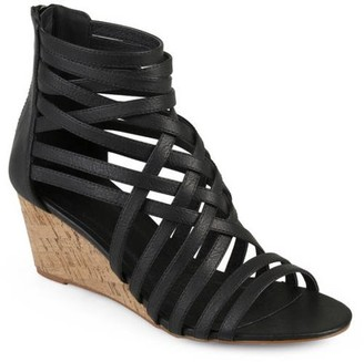 Co Brinley Womens Faux Leather Strappy Wedges