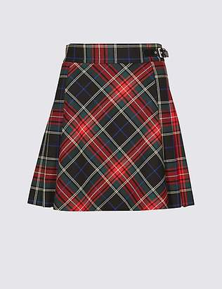M&S Collection Checked Kilt Mini Skirt