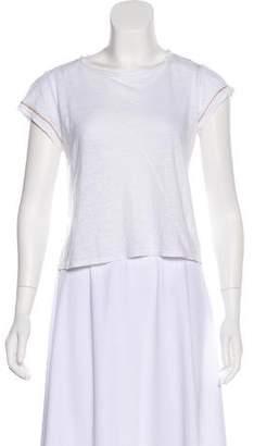 Alice + Olivia Linen Short Sleeve Top