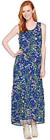 C. WonderC. Wonder Petite Botanical Floral Print Maxi Dress
