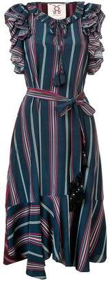 Figue Tessa ruffled stripe dress