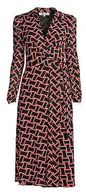 Diane von Furstenberg Women's Phoenix Wrap Shirt Dress