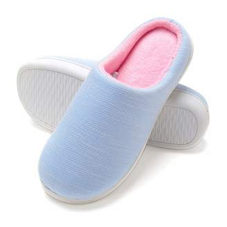 a08acfb704c Fly London HAWK Womens Plush House Slippers Slip On Two-Tone Memory Foam  Indoor Shoes