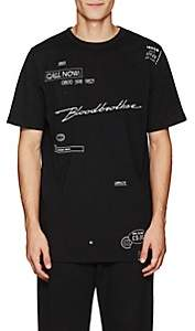 "Blood Brother MEN'S ""YOURS"" EMBROIDERED COTTON T-SHIRT-BLACK SIZE XS"