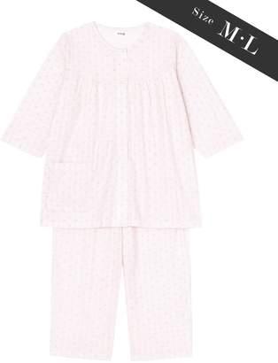 Wing 【お値打ち品パジャマ】綿100%ストライプ幾何花柄 ウイング/ワコール(C)FDB