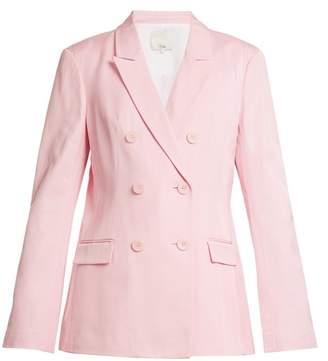 Tibi Steward Double Breasted Faille Blazer - Womens - Light Pink