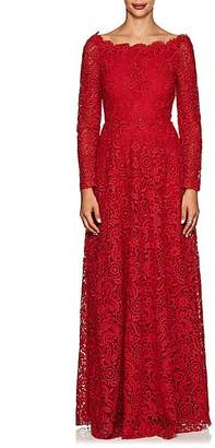 Valentino Women's Off-The-Shoulder Floral Lace Gown
