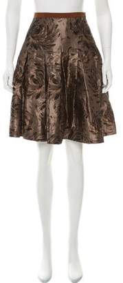 Oscar de la Renta Patterned Knee-Length Skirt