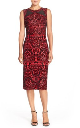 Women's Eci Flecked Scuba Sheath Dress $98 thestylecure.com