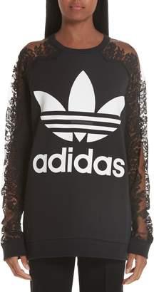 571870cde0 at Nordstrom · Stella McCartney Lace Inset adidas Logo Sweatshirt