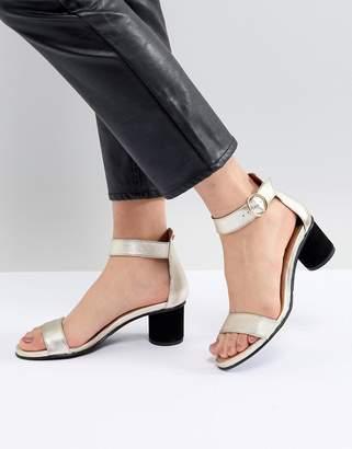 Selected Metallic Heeled Sandal