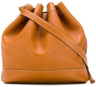 Hermes Pre-Owned contrast stitch bucket bag