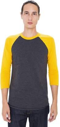 American Apparel BB453W - Unisex Poly-Cotton 3/4 Sleeve Raglan T-Shirt S