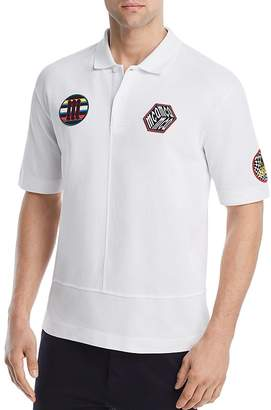 McQ Upcycled Patches Pique Polo Shirt