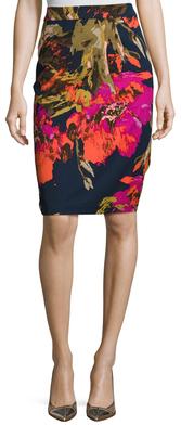 Miki Print Pencil Skirt