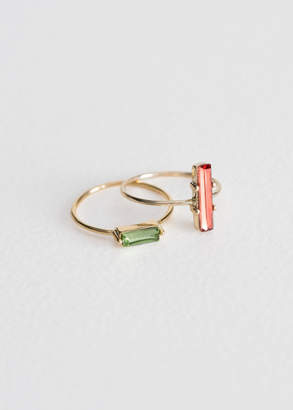 And other stories Two-Set Jewelled Rings