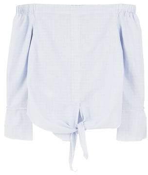MANGO Off-shoulder knot blouse