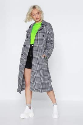 Nasty Gal Gimme a Check Wool Coat