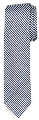 Thom Browne Classic University Striped Silk Tie, Navy $190 thestylecure.com