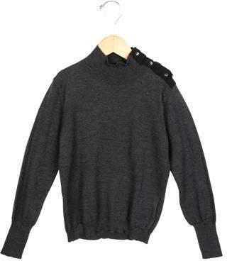Lanvin Petite Girls' Jewel Embellished Wool Sweater w/ Tags