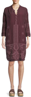 Johnny Was McCalli Embroidered Georgette Tunic