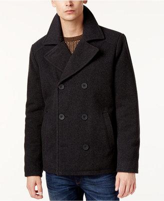 Kenneth Cole Men's Kurt Notch-Collar Pea Coat $265 thestylecure.com